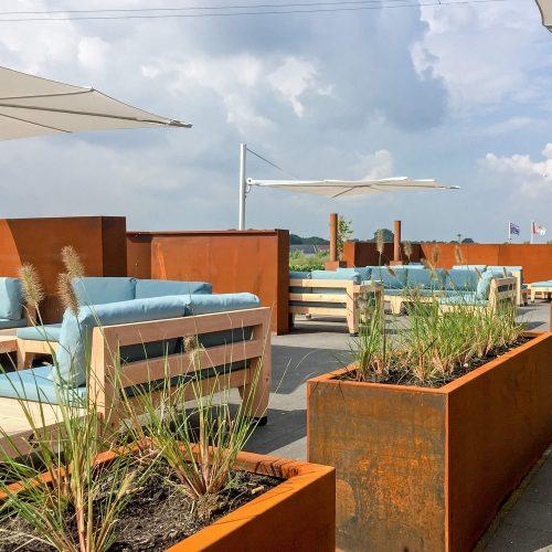 Luxe loungeterras Golfbaan