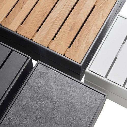 Mogelijkheden van BOXX bijzettafel - Teakhout - Aluminium - Keramiek