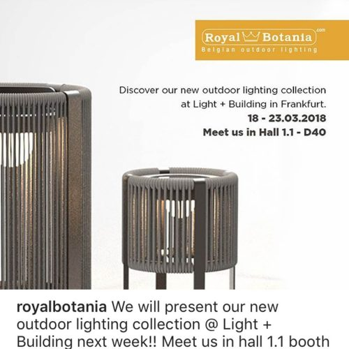 New Royal Botania Outdoor Lighting Collection 2018