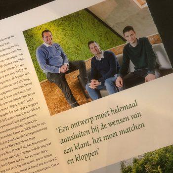 Ernst Baas Tuininrichting in Qualis Magazine