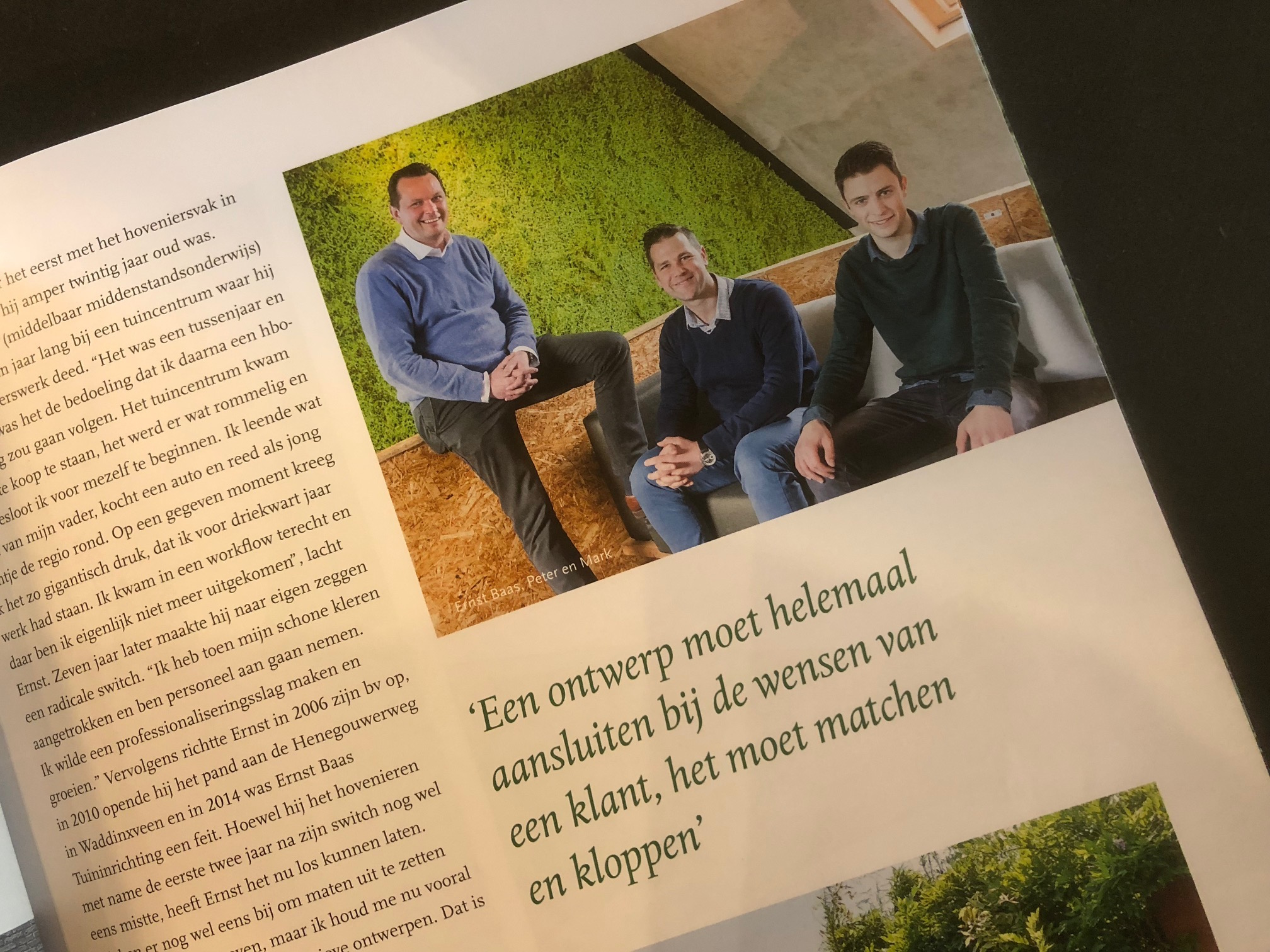Ernst Baas Tuininrichting in Qualis Magazine