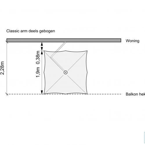 Paraflex parasol - Mogelijkheid 2