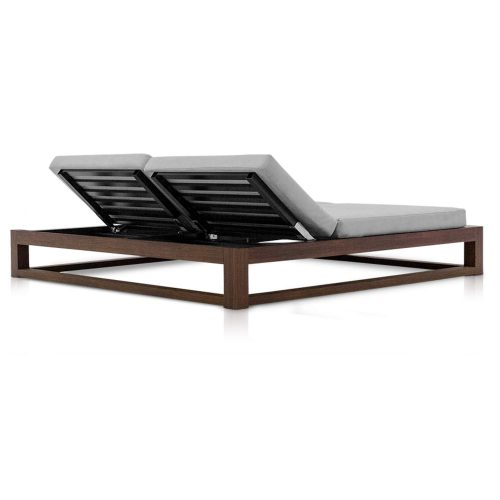 Tuuci - Equinox Double Chaise Lounge - rugleuning schuin