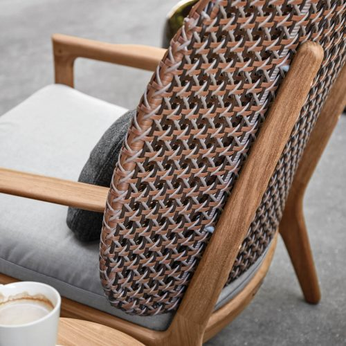 Gloster Kay lounge chair - Brindle Wicker