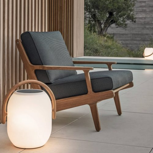 Gloster Bay lounge chair & ambient cocoon