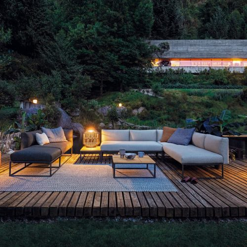 Gloster Maya lounge met verlichting