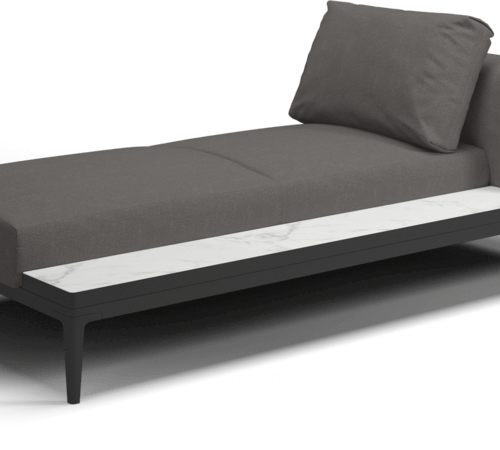 Gloster - Grid Chaise unit - Bianco Platform