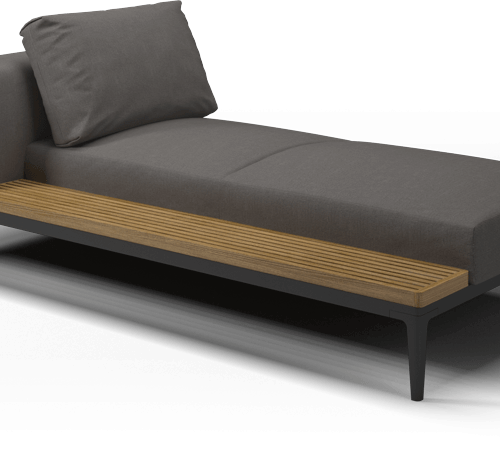 Gloster - Grid Chaise unit - Teak