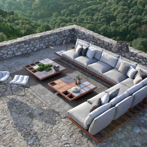 Royal Botania Mozaix lounge Mahonie hout