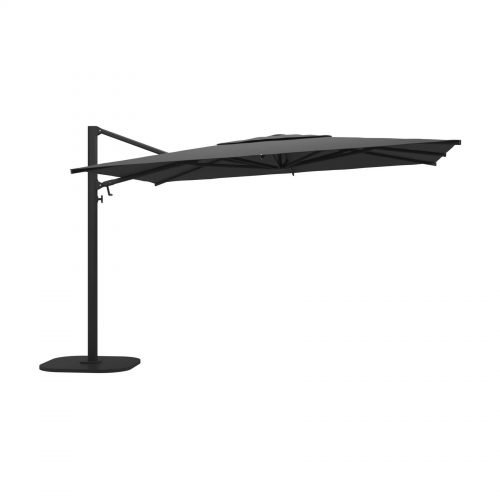 Halo Large Square Cantilever Parasol - Meteor