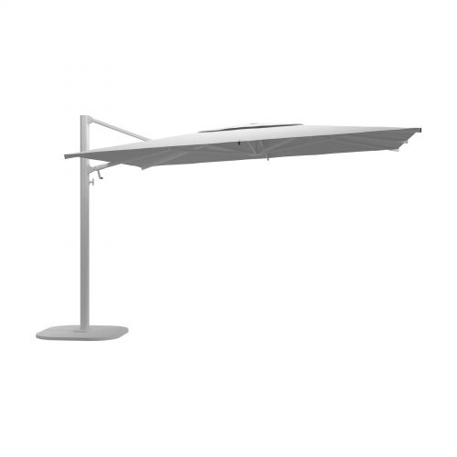 Halo Large Square Cantilever Parasol - White