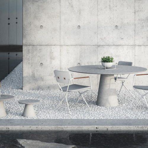 Conix tafel rond bijzettafel